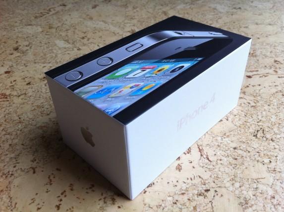 iPhone-4-Schachtel – Aufgenommen mit dem iPhone 4