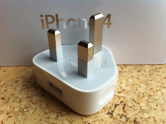 USB-Ladegerät – Aufgenommen mit dem iPhone 4